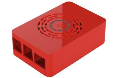 Multicomp Behuizing voor Pi 4B incl. Aan/Uit knop - Rood