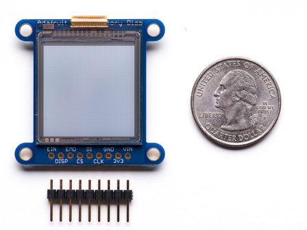 SHARP Memory Display Breakout - 1.3' 96x96 Silver Monochrome