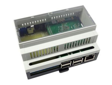 RaspiBox Open Prototyping DIN Rail behuizing voor Raspberry Pi