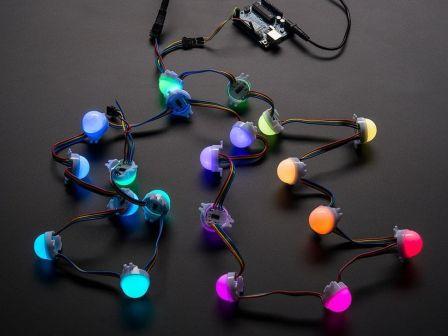 30mm Dots - 12V Digital RGB LED Pixels (Strand of 20)