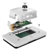 Pre-Order Raspberry Pi 4 Touchscreen behuizing Multicomp Portable + Power button Wit