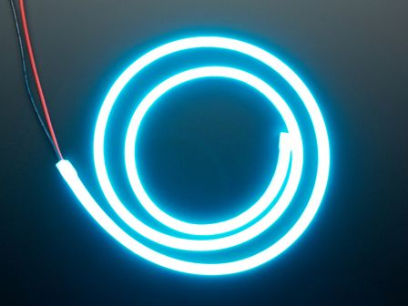 Flexible Silicone Neon-Like LED Strip - 1 Meter - Ice Blue