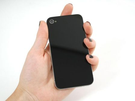 Black No-Logo iPhone Replacement Back - iPhone 4S