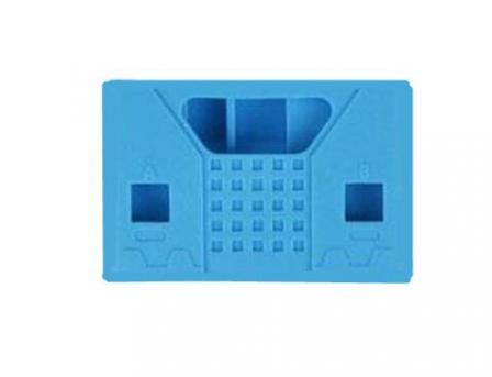 Siliconen Behuizing voor Micro:Bit V2 - Vierkant Blauw