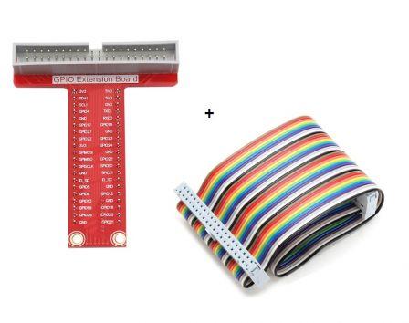 GPIO Extension Board + GPIO 40P Adapterkabel