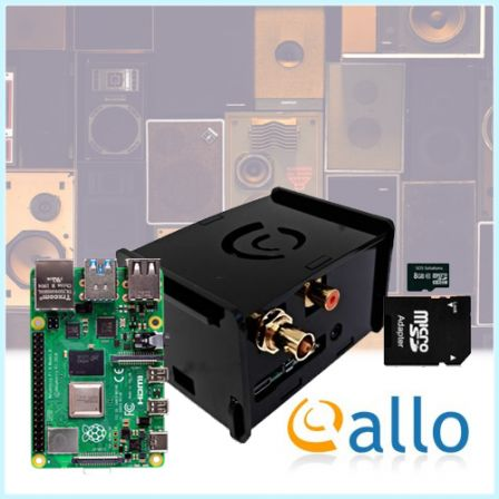 ALLO DigiOne Signature Audio Kit met Raspberry PI 4B