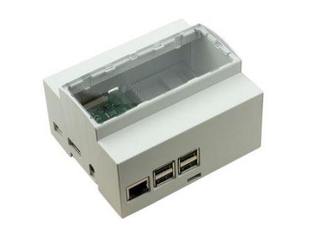 DIN Rail behuizing voor Raspberry Pi - 6M Modulbox