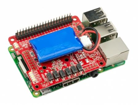 UPS PIco HV3.0B+ 450 mAh LiPo batterij Stack