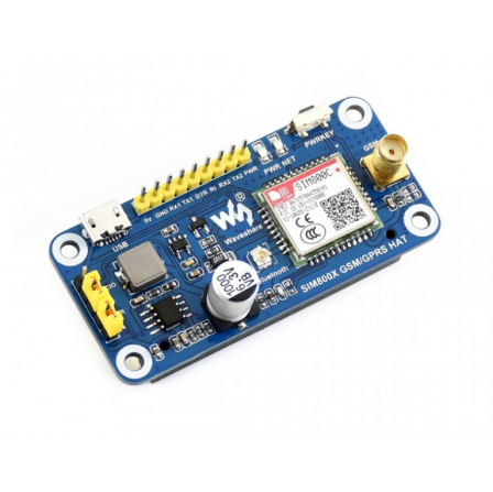 GSM / GPRS / Bluetooth HAT voor Raspberry Pi