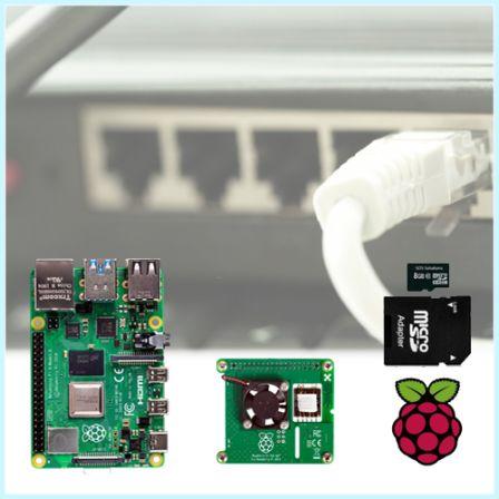 Raspberry Pi PoE (Power Over Ethernet) HAT Starter Kit met Raspberry Pi 4 2GB / 4GB / 8GB