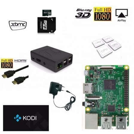 Kodi TV Box met Raspberry Pi 3B