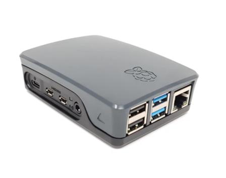 Originele Raspberry Pi 4B Behuizing - Zwart / Grijs