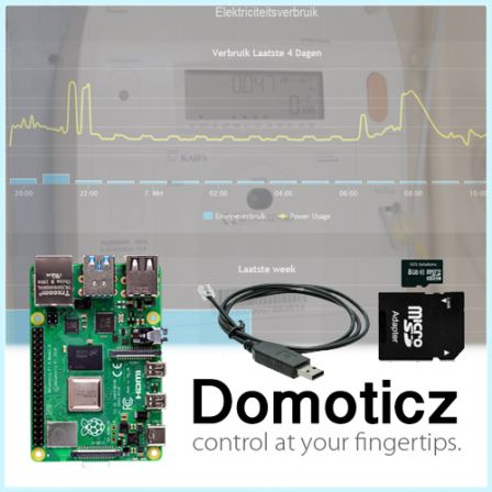 Domoticz Slimme Meter Starter Kit met Raspberry Pi 4 2GB / 4GB / 8GB